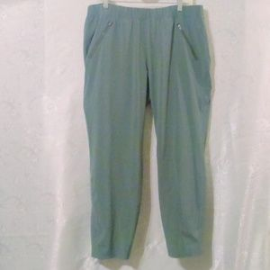 Athleta Green Pull On Active Workout Jogger Pants